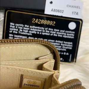 CHANEL Bags - Authentic Chanel Le Boy Metallic ZIP Cardholder